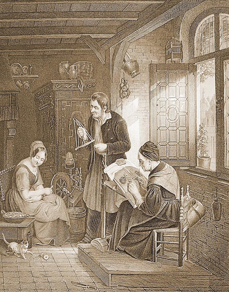medieval lace maker