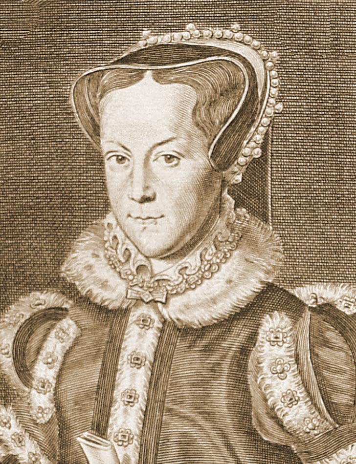 Drawing of Queen Mary I